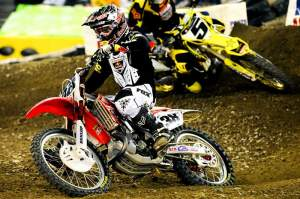Oklahoma's Trey Canard is on the verge of a win in the big-bike class.