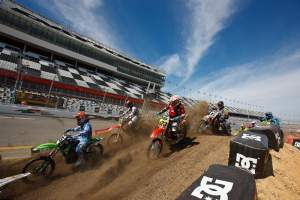 This was the first time in 25 years that amateurs were able to race the Supercross track at Daytona.