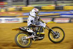 Rockstar/Makita Suzuki's Ryan Dungey is in control of the AMA Supercross class.