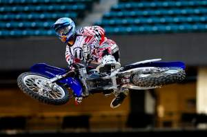 Josh Grant at Anaheim 1 press day.