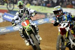 Christophe Pourcel chases Justin Barcia in the Atlanta Main.