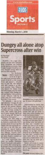 Ryan Dungey was featured on Monday's USA Today.