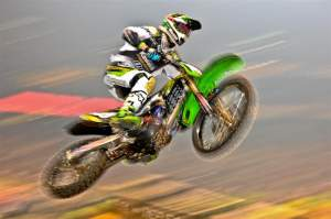 Dean Wilson rode a strong race to finish second after falling.