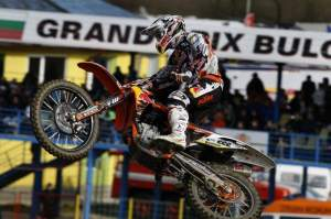 Tony Cairoli on his new KTM.