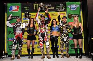 The 450cc podium with Brayton, Windham and Hahn.