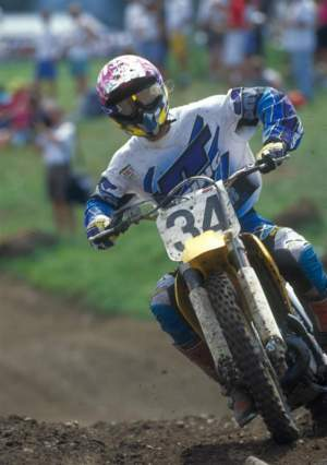 Jimmy Button back in his days as a Suzuki factory rider.
