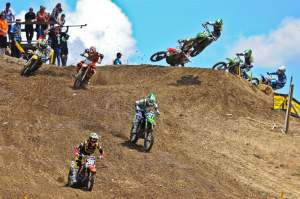 ...look how far Pourcel had passed through the other riders. Despite the poor first moto, Canard was third overall.