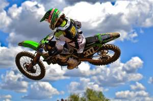 Pourcel took the first moto win, but a third in moto two dropped him to second overall.