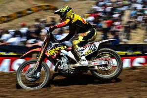 Brett Metcalfe was fourth overall in his 450cc debut.