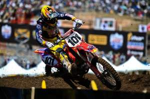Ben Townley was surprisingly fast, but falls kept him from top finishes. He was sixth overall.