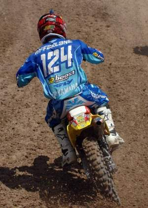Jason Thomas wore Andrew McFarlane's Yamaha of Troy jersey in practice.