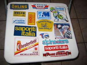 Click through this gallery to see Ross' sticker collection.