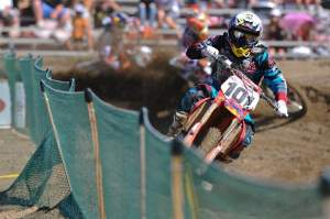 Townley leads the KTM contingent at the US GP in the second moto.