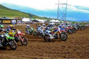 The first-moto 250cc start.