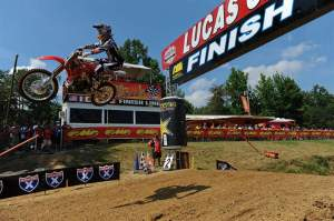 Andrew Short led the entire first moto to finally win his first-ever 450cc national moto... at Budds Creek. He finished second overall.