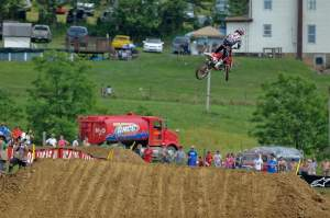 Andrew Short led most of moto two, but finished second both in the moto and overall.