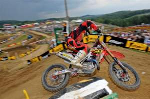 Brett Metcalfe grabbed his first podium overall finish in the 450cc class at High Point.