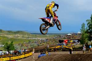 Ben Townley landed his first 450cc podium overall of the season.