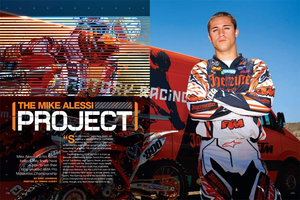 It's a (complicated) family affair as Mike and his father, Tony, try to take KTM's new 350 SX-F all the way. Page 170.