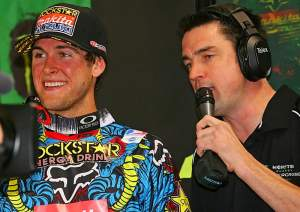 Lurch chats up Ricky Dungemichael. Oops, I mean Ryan Carmungey.