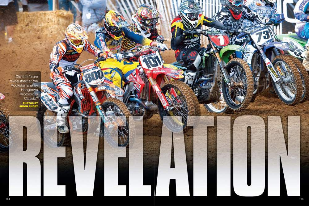 At Hangtown's season-opening AMA Motocross National, we may have gotten a glimpse—two glimpses, actually—of the future of our sport. Page 184.