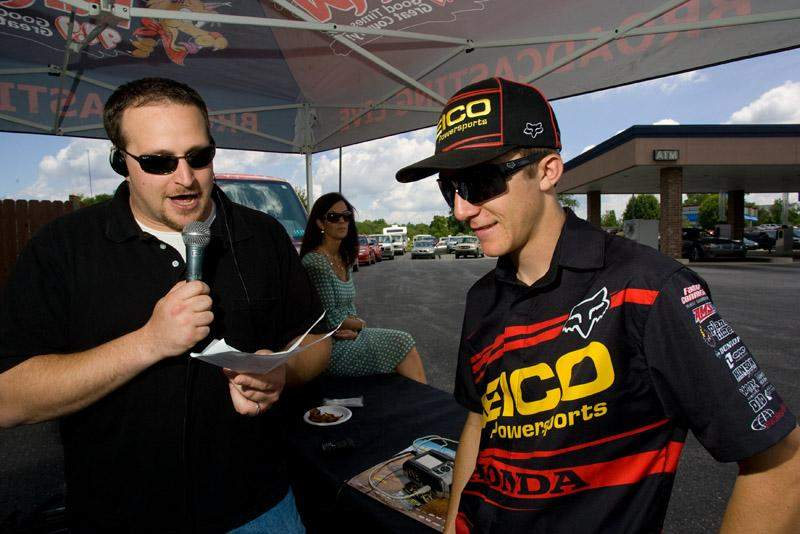 Eli Tomac spoke with a local radio station.