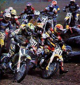 The last known photo of two riders in JT gear. Mickael Pichon (1) and Davey Yezek (40).