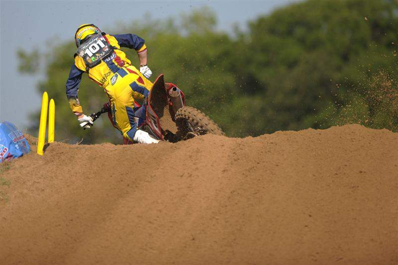 Ben Townley was fifth fastest in 450cc qualifying overall.