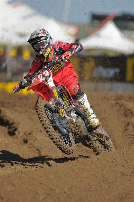 Eli Tomac ws seventh fastest overall in 250cc qualifying.