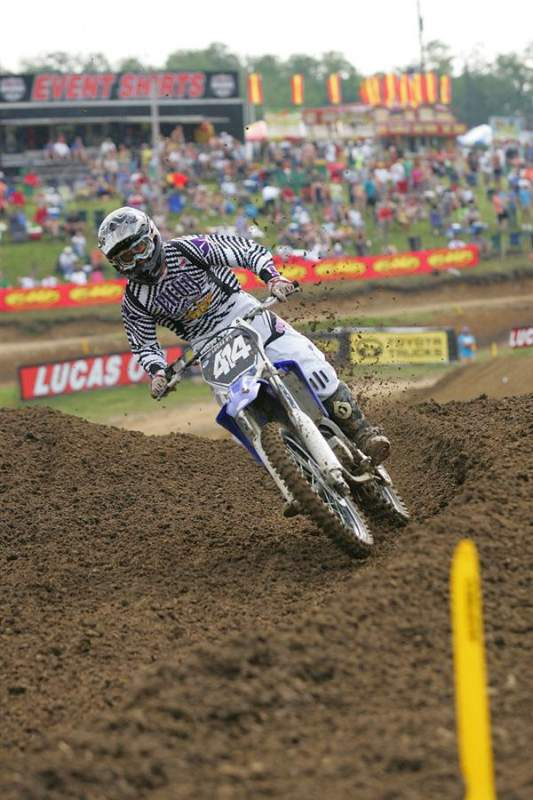 Brian Shuckhart was attempting to make the 250cc field today on a YZ125.