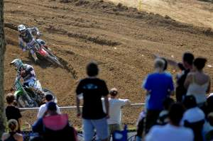 Wilson had to fight off Barcia for quite a while in moto two.