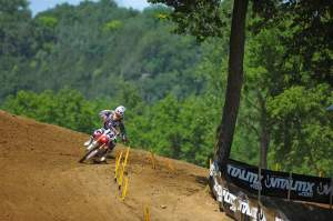 Despite Ryan Dungey starting right behind him, Windham was riding almost alone early on in the race.