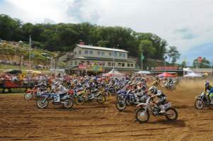 Andrew Short (29) got the moto-two holeshot.