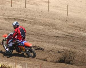 Hangtown 2009 Amateur Day,  Post Vintage Class, on the 1983 CR 480