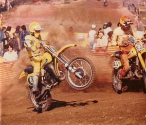 Hangtown 1980, 250 National MX, 1980 YZ 250, and the other guy is Kent Howerton