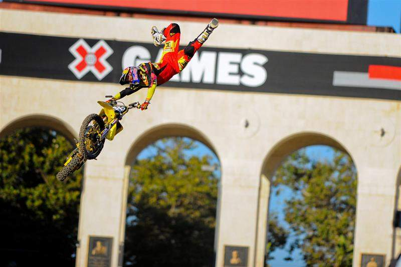 Pastrana's tricks were big, and he had the double-backflip in the bag in case he needed it. He didn't, but he did it anyway after clinching the gold.