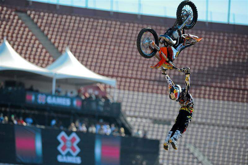 Kiwi Levi Sherwood, an X Games rookie, went big on his way to a runner-up finish.
