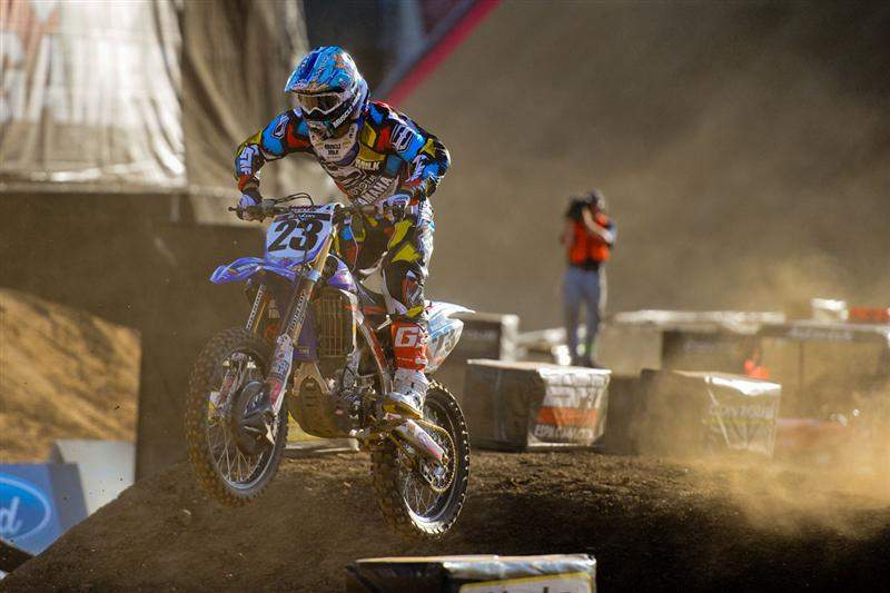 Justin Brayton made it a JGR 1-2 sweep after working his way by Hansen.