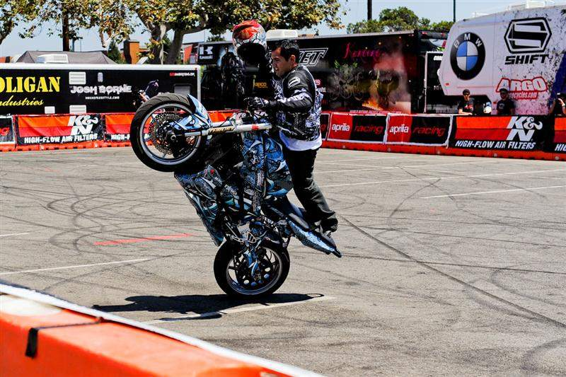 There was something new in the parking lot at X, with these flat-land street-bike freestylers performing.