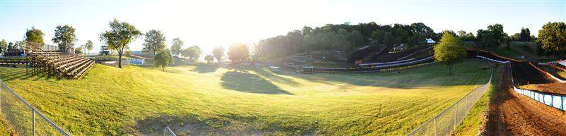 Here's a morning stitched panorama of the back side of the RedBud track.