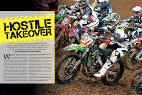 While Ryan Dungey is asserting himself as the new boss of the 450 class, foreign imports are taking over the 250 class. Page 112.