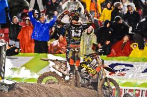 Windham celebrating his win in Salt Lake City.