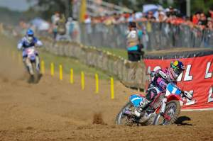 Fiolek won both motos, which were the first two motos of this season that Patterson (2) has lost.