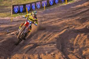 Justin Barcia won 250cc moto two going away and finished second overall.
