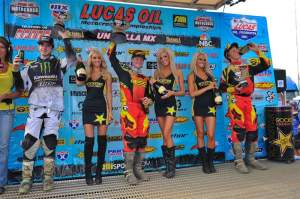 The 250cc podium...