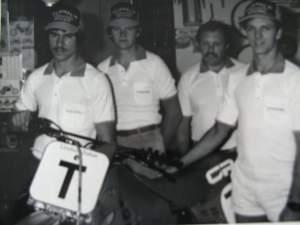 Larry Wosick (far left) and Jim Tarantino (far right).