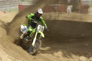 AJ Catanzaro gets some practice time in at Southwick.