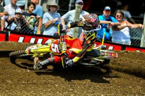 Ryan Dungey continued his streak at Unadilla, going 1-1 for the overall.