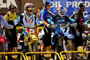 Dungey (left) had to deal with the hype of James Stewart's return, but it didn't slow him down.