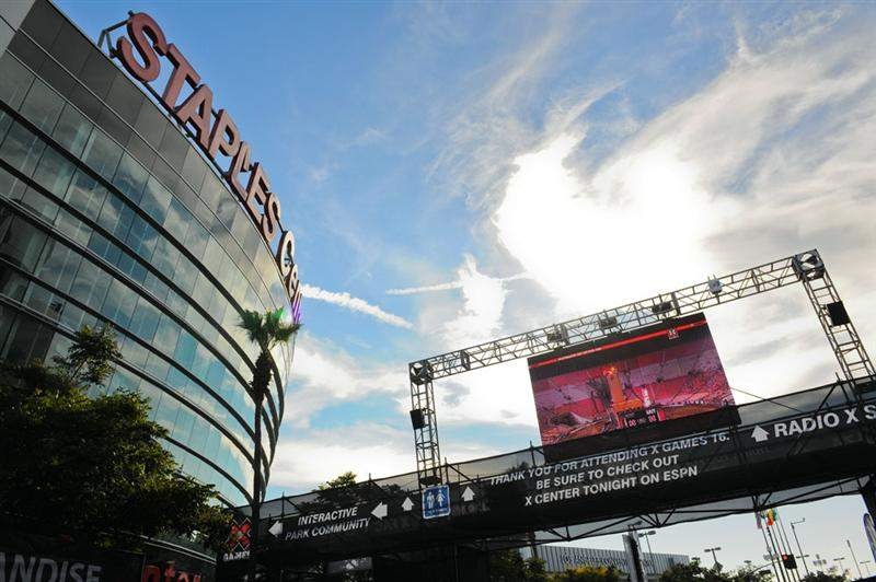 For Friday and Sunday's moto events, they moved to the Staples Center.